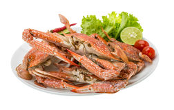 Boiled blue crab Stock Photos