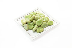Boiled broad beans Royalty Free Stock Photos