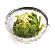 Boiled broccoli Stock Photos