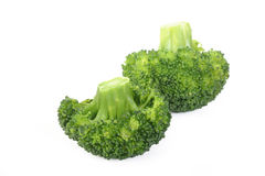 Boiled broccoli vegetable on white Stock Photography