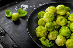 Boiled brussels sprouts Stock Photos
