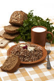 Boiled buckwheat Stock Image