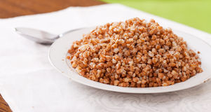 Boiled buckwheat cereal Stock Images