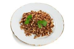 Boiled buckwheat isolated Stock Image