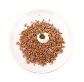 Boiled buckwheat kasha Royalty Free Stock Photo