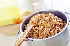 Boiled buckwheat Stock Image