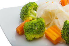 Boiled cabbage and broccoli Royalty Free Stock Image