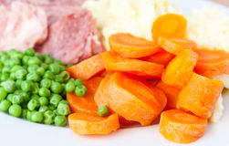 Boiled Carrots Royalty Free Stock Image