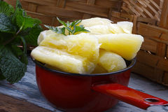 Boiled cassava Royalty Free Stock Photography