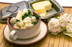 Boiled cauliflower Royalty Free Stock Image