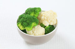 Boiled cauliflower and broccoli Royalty Free Stock Photography