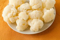 Boiled cauliflower - healthy, delicious foods Stock Photography