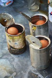 Boiled Chicken egg in can Thai Style Stock Photography