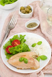 Boiled chicken and rice Royalty Free Stock Photo