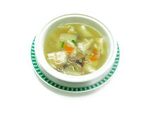 Boiled chicken in vegetables soup Royalty Free Stock Images
