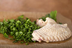 Boiled chicken wing Royalty Free Stock Image