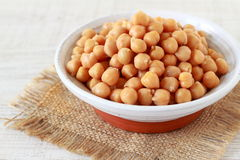Boiled chickpeas Stock Images
