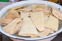 Boiled Chinese bamboo shoots Stock Photo