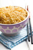 Boiled chinese noodles Royalty Free Stock Photos