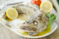 Boiled cod Royalty Free Stock Images