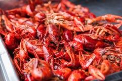 Boiled cooked crayfish crawfish ready to eat. stock photo