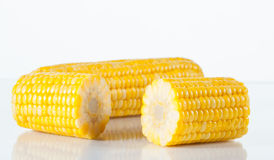 Boiled corn Stock Image