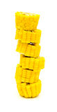 Boiled corn isolated on white background Stock Image