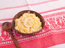 Boiled corn porridge Royalty Free Stock Photos