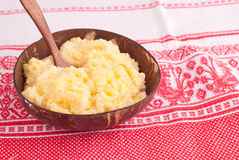 Boiled corn porridge Royalty Free Stock Image