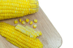 Boiled corn . Royalty Free Stock Images
