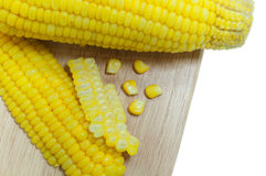 Boiled corn . Royalty Free Stock Image