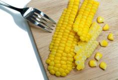 Boiled corn . Royalty Free Stock Photos