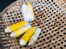 Boiled corns Stock Photo