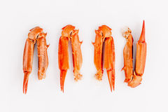Boiled crab claws isolated on white background for crabs and sea Royalty Free Stock Photos