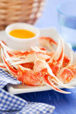 Boiled crab claws Royalty Free Stock Image