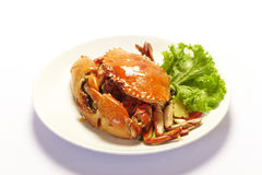 Boiled crabs Stock Images