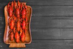 Boiled crawfish, beer snacks Stock Photo