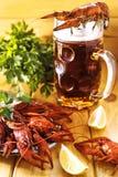 Boiled crawfish royalty free stock photos