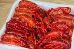 Boiled crayfish catering food Stock Photography