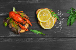 Boiled crayfish food photo Stock Photography