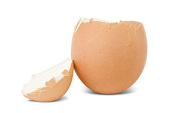 Boiled decapitated egg Stock Image
