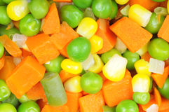 Boiled diced vegetables Royalty Free Stock Photos