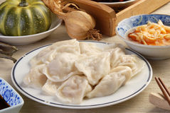Boiled dumplings Stock Photos