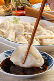 Boiled dumplings Stock Photo