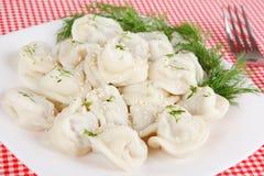 Boiled dumplings Stock Images