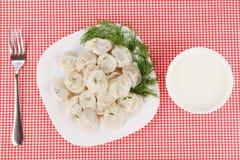 Boiled dumplings Royalty Free Stock Photography