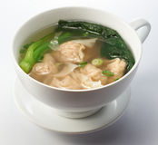 Boiled Dumplings with Soup Royalty Free Stock Image