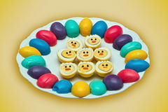 Free Boiled Easter Eggs Stock Photography - 24240892