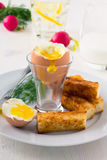 Boiled egg for breakfast Royalty Free Stock Photos
