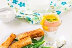 Boiled egg for breakfast Royalty Free Stock Image